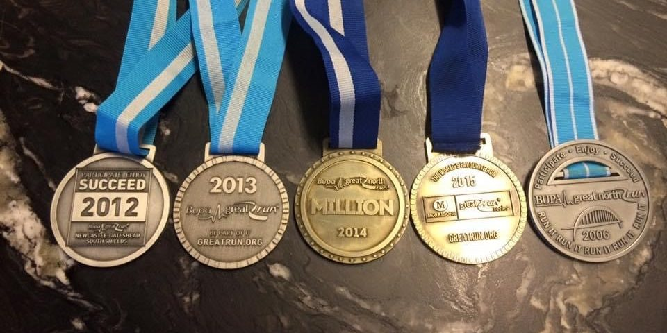 Great North Run medals